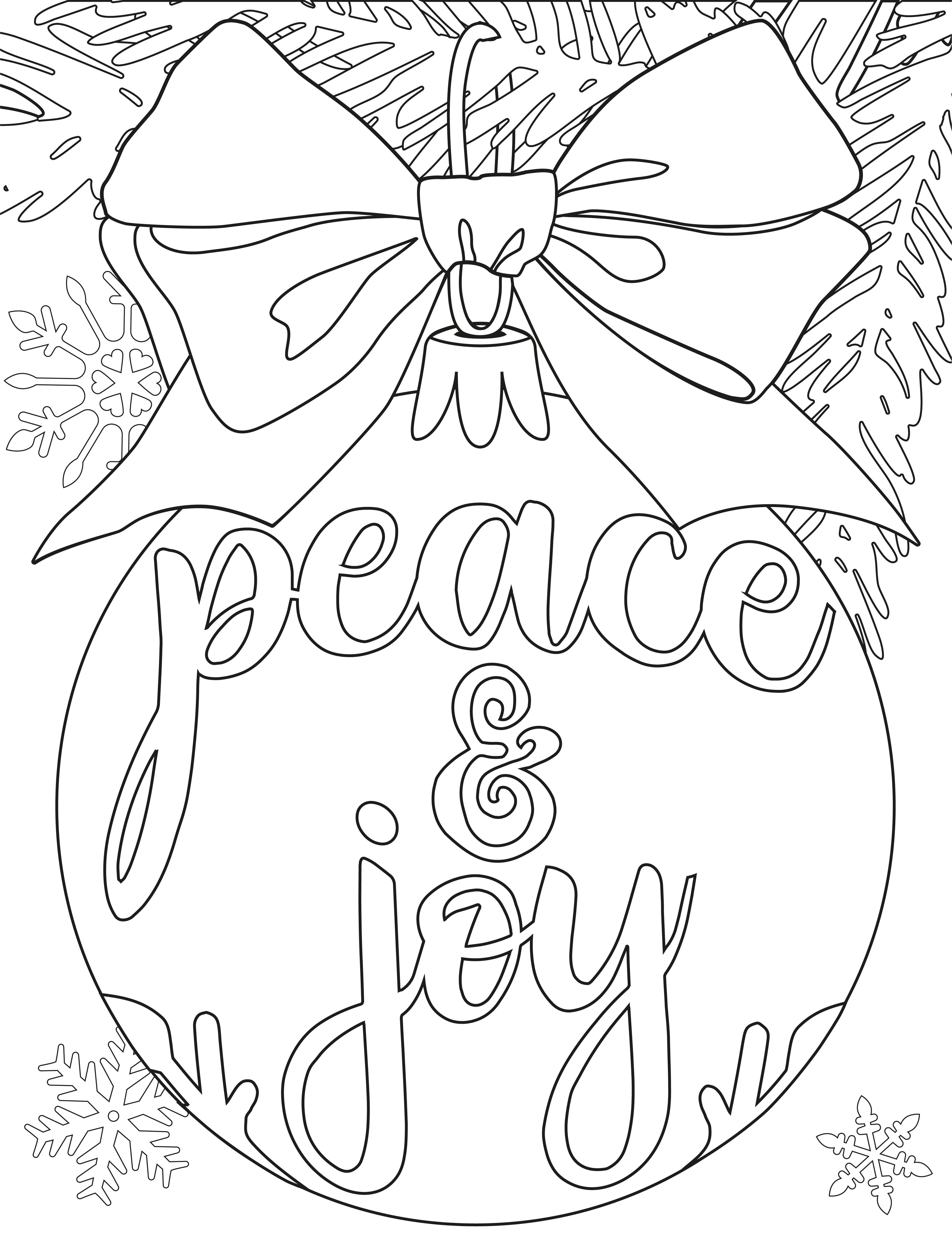 Raamtekening Peace en Joy